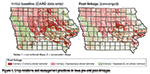 Figure 1. Crop rotations and management practices in Iowa pre-and post-linkages